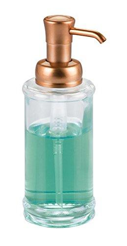 mDesign Dosificador de jabón recargable con 355 ml de capacidad – Elegante dispensador de jabón líquido
