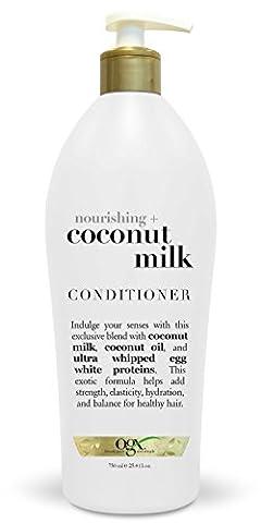 OGX Nourishing Conditioner, Coconut Milk, Salon Size, 25.4 Ounce (Organics Coconut Conditioner)