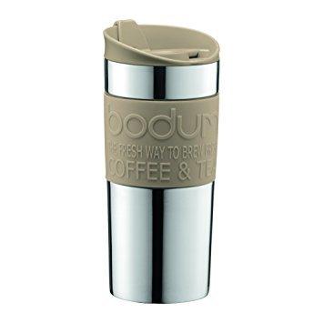 (Bodum - Travel mug - Stainless Steel - 0.35 l/12 oz - Sand 133)