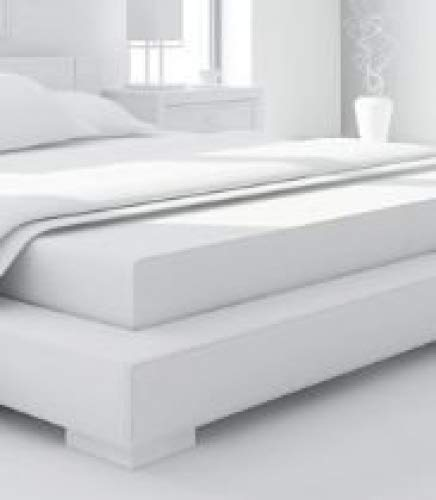 Hotel Quality Poly Cotton Flatt Sheets White (Double) Hotel Linens