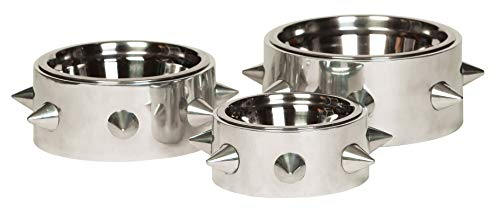 Unleashed Life Bruno Collection - Stainless Dog Dish & Cat Bowl for Food/Water