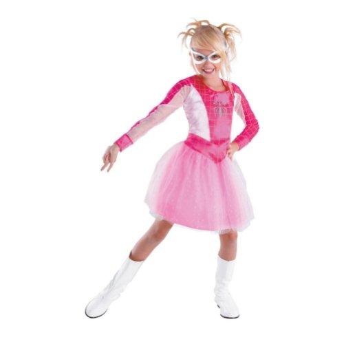 Marvel Pink Spider Girl Costume (Spidergirl/Spider Girl Costume for Girls Size Medium 8/10-Women of Marvel Halloween Collection)
