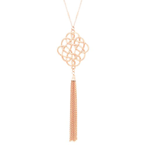 rosemarie-collections-womens-celtic-knot-tassel-long-pendant-necklace-light-rose-gold
