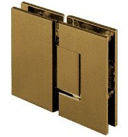 CRL Geneva 180 Series Brushed Bronze 180º Glass-To-Glass Standard Hinge by C.R. Laurence
