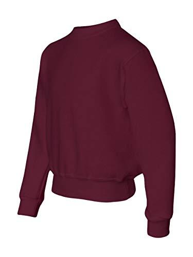 Jerzees Youth 50/50 Crewneck Sweatshirt, MAROON, Medium