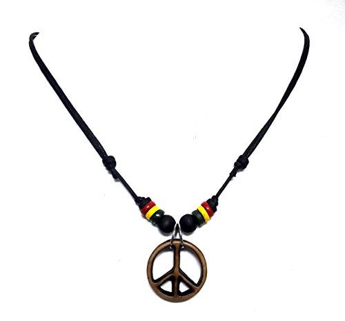 Jelly Belly Baby Costume (Peace Symbol Necklace - Peace Sign Pendant Rasta Hippie Hemp Hawaiian)