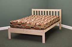 Charleston Platform Bed Frame - Solid Hardwood (Old-Queen)