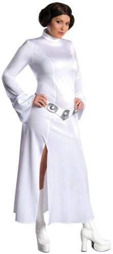 [Secret Wishes Star Wars Princess Leia Costume, White, Plus] (Costume Princess Leia Star Wars)