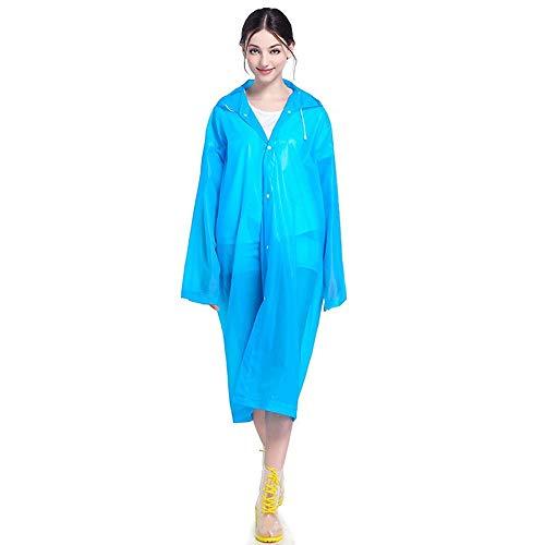 Sjseb Femme Cap De Blue Cape Fille Imperméable Poncho Capuche Vêtements Manteau Transparent Long Femmes Pluie rprqT
