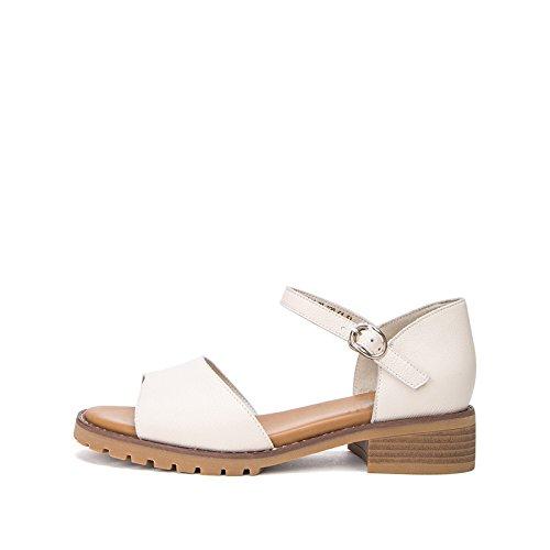 estivi casual Sandali piatti donna di bufalo a Pantofole pelle DHG da Tacchi tacco alti moda alla 35 Sandali tacco con basso Sandali basso z5nwdnqI8g