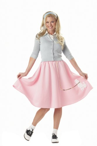 California Costumes Women's Poodle Skirt Costume,Pink,Small (Halloween Costumes For Going Out)