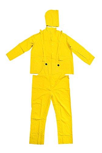 Falcon 201-350XL Premium 3-Piece Rain-Suit, Rain-Coat, Rain-Jacket, Size XL (5 Pack)