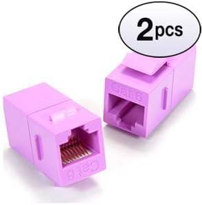 Cat.5E Inline Coupler w//Keystone Latch Purple 10 Pack GOWOS