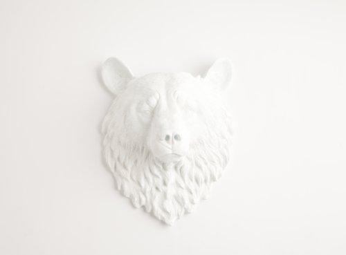 resin bear head - 7