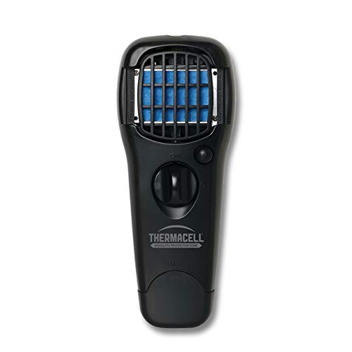 Thermacell MR150 Portable Mosquito Repeller, Black; DEET-Free, Scent-Free, Mess-Free Mosquito Repellent; 15 Foot Protection Zone with Fuel Cartridge and 3 Repellent Mats Provides 12 Hours of Relief ()