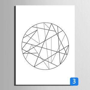 RUNDESHEBEI Y&M Einzelne geometrische Linien Linien Linien dekorative Malerei, Rahmen Malerei, dekorative Malerei das Wohnzimmer Restaurant, 50  70 B071JLY7SH Zeichenpapier Saisonaler heißer Verkauf fc6947