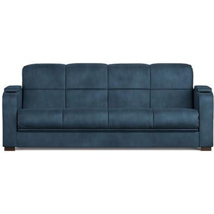 Amazoncom Tyler Microfiber Storage Arm Convert A Couch Sofa