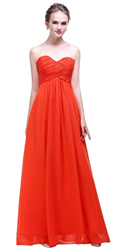 orange long dresses wedding - 3