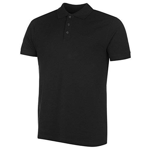 Pierre Cardin Herren Poloshirt uni schwarz Top T-Shirt Tee