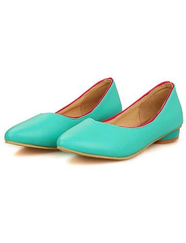 Chaussures blanc Talon Pdx Eu35 femme jaune Uk3 Décontracté Similicuir Plat En Cn34 rose Noir Pointu Bout us5 bleu Black Plates q651R54w