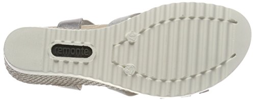 42 Grigia Sandali D3462 argento Cinghia acciaio Caviglia Remonte Donna Acciaio Da xrxnSv