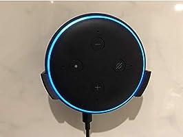 Suporte Apoio Stand De Parede Amazon Echo Dot 3 (PRETO - DUPLA FACE)