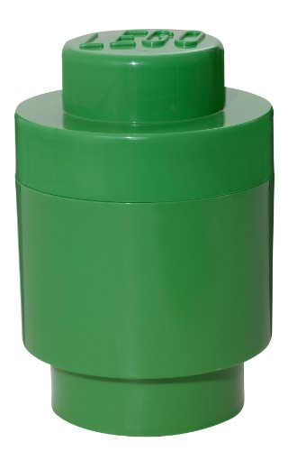 LEGO Round Storage Dark Green