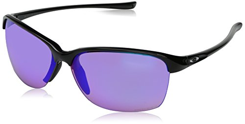 Oakley Women's Unstoppable Non-Polarized Iridium Rectangular Sunglasses, POLISHED BLACK, 65.01 mm