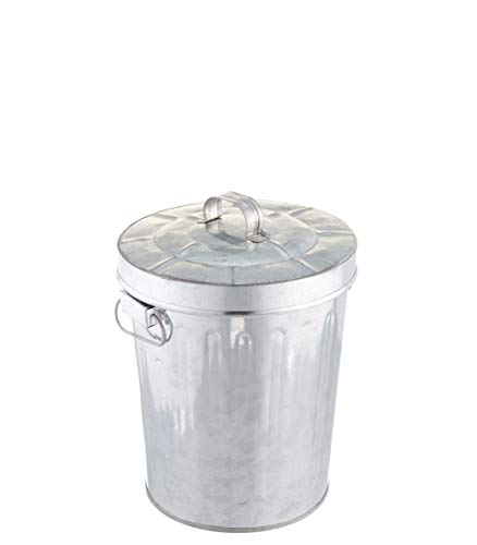 Kraft Klub, Inc. 7.5'' Galvanized Tin Waste Bin with Lid