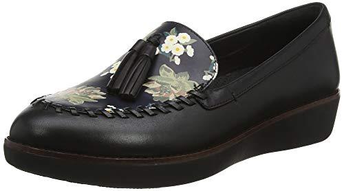 Petrina Fitflop Negro black Para Floral Mocasines Moccasin Mujer 001 Dark Ugdgwxp