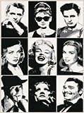 Hollywood Legends by Arek Warminski 31.5x23.5 Art Print Poster Celebrities Marilyn Monroe, Humphrey Bogart, Audrey Hepburn, Marlon Brando, Clark Gable, Lauren Bacall, Marlene Dietrich, Sophia Loren, Cary Grant