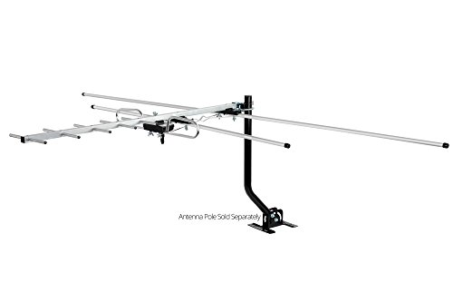 ViewTV DA-290 Indoor / Outdoor Compact Yagi HDTV Antenna for Roof or Attic - 80 Miles Range (Lava Indoor Tv Antenna)
