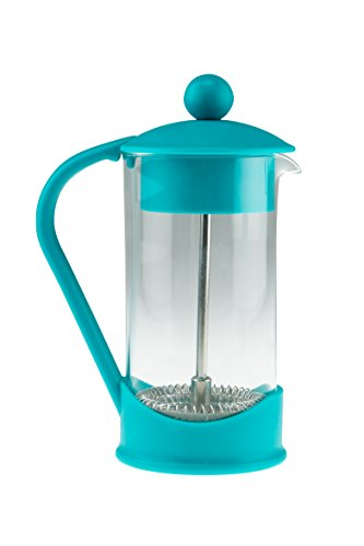 French Press Single Serving Teal Colored Coffee Maker by Clever Chef | Perfect for Morning Coffee | Maximum Flavor Coffee Brewer With Superior Filtration | 2 Cup Capacity (12 fl oz/0.4 liter) ()