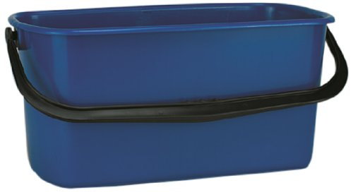 Impact 6250 High Density Polyethylene Window Washing Bucket, 6 Gallon Capacity, 11-3/4'' Width x 10'' Height, Blue/Black (Case of 3)