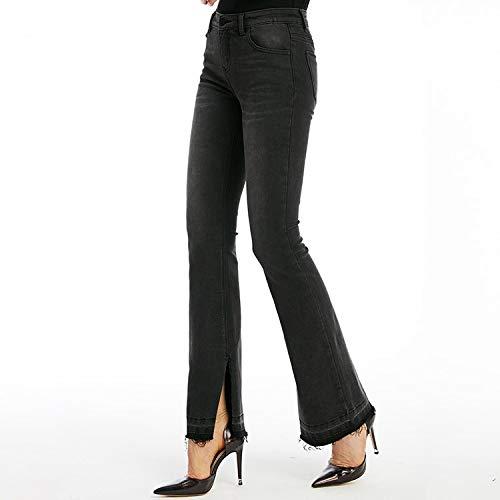 Xs Tendenza Divisi Nuovi Vita M Slim Pantaloni E Jeans Nero Donna Jeans Alta Moda Mvguihzpo AqY6pIa