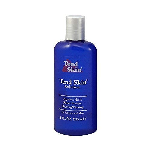(Tend Skin After Shave Solution for Ingrown Hairs, Razor Bumps & Razor Burns on Womens legs / underarms / bikini lines & Mens neck / body / head, 4 ounce)