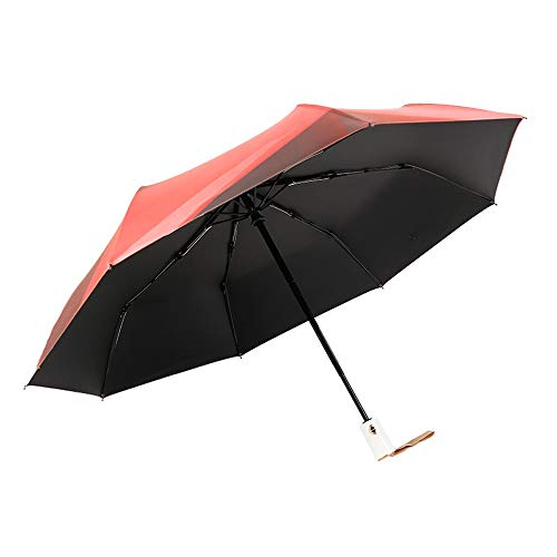 (DSWDA Folding Umbrella Rainproof Measures Strong Water Repellant 210T high Strength 8 Bone Light Weight Automatic Opening and Closing Well-Seasoned Combination Easy to Store (Color : 6))