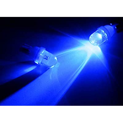 iJDMTOY (10) Ultra Blue Single-Emitter 1-LED 168 175 194 2825 W5W T10 LED Replacement Bulbs Compatible With Car Interior Lights, Map Lights, Dome Lights, Foot Area Lights, Trunk Area Lights, etc: Automotive