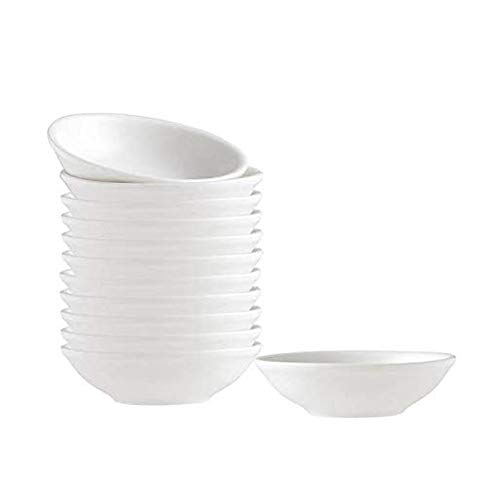Dipping Sauce Dishes,Round Soy Sauce Dipping Bowls, Dipping Bowls, Porcelain Watercolor Palette - 12 Packs, White, 1.2 oz