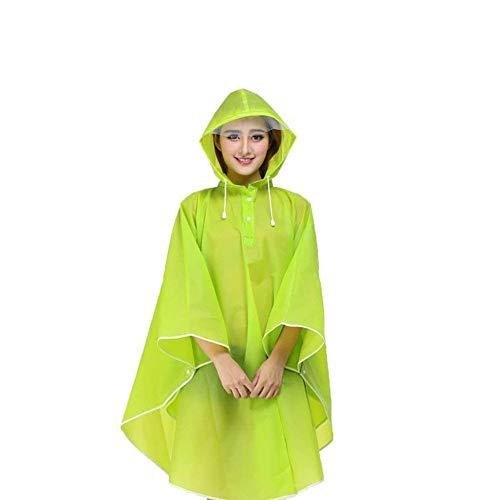 Grün Casual Pluie Parka Poncho Vêtements Moto Femmes Imperméable À De Respirant Transparent Battercake Dame Capuche 6ZqCwE