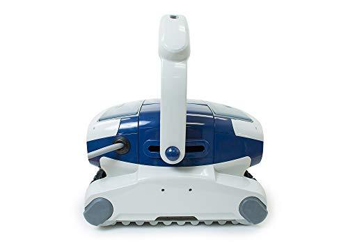 Aquabot Elite Robotic Pool Cleaner for Gunite, Concrete, Pebble Pools with Anti-Tangle Swivel, Massive Dual Cartridge Filters, 3 Yr Warranty