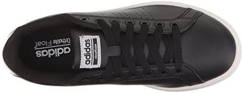 Adidas Performance Women's CF Advantage CL Sneaker, Black/Black/Silver Metallic, 10 M US