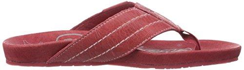Dockers by Gerli 36BR201 - zuecos de cuero unisex rojo - Rot (rot 700)