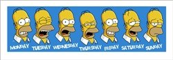 Homer Week In Review Simpsons Cartoon TV Poster Print (13 x 37 inches)