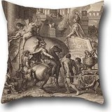 The Oil Painting Jean Audran - Alexander The Great Enters Babylonia Throw Cushion Covers Of ,18 X 18 Inches / 45 By 45 Cm Decoration,gift For Wedding,festival,monther,gf,wedding,valentine (2 Sides) - Memphis Lounger