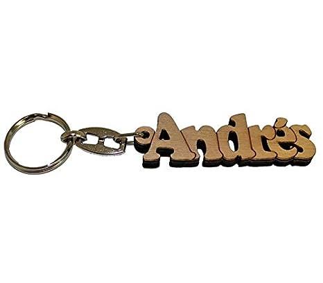 Acan - Llavero de Madera con el Nombre Andrés: Amazon.es: Hogar