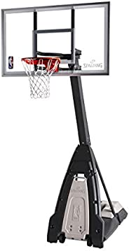 Spalding The Beast Glass Portable Basketball Hoop