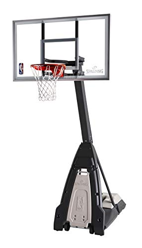"Spalding The Beast Portable Basketball Hoop - 60"" Glass Backboard"