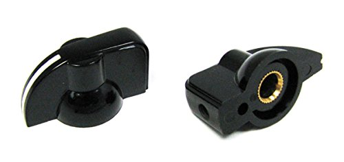 (2-pack Potentiometer Knobs: Black