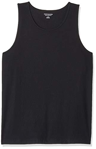 Amazon Essentials Men's Regular-Fit Solid Tank Top, Black, X-Large